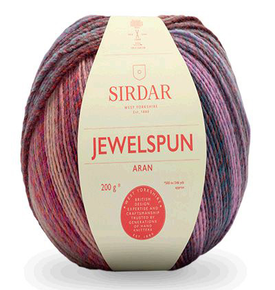 Jewelspun is a stand weight aran